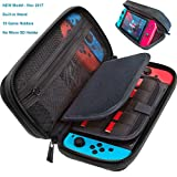 Switch Deluxe Travel Carrying Case with (19 Game Card and 2 Micro SD Card Holders) by ButterFox - Black