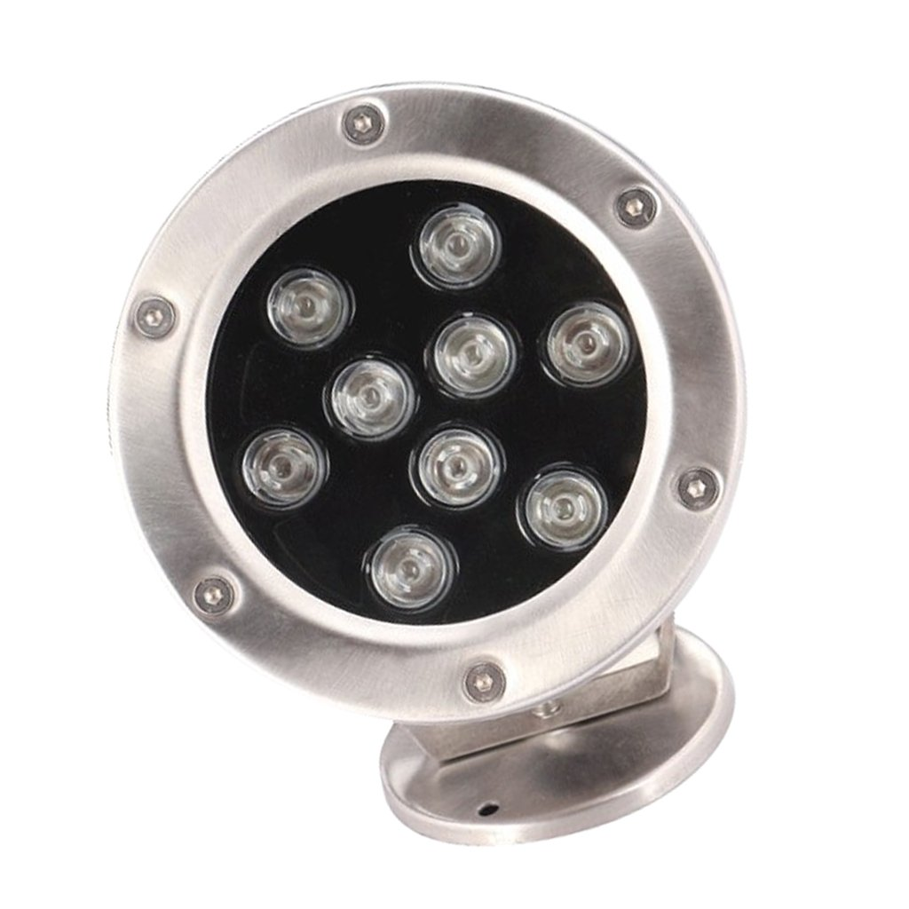 D DOLITY Submersible 9W LED RGB Pond Spot Lights for Underwater Pool Fountain IP68 - Red