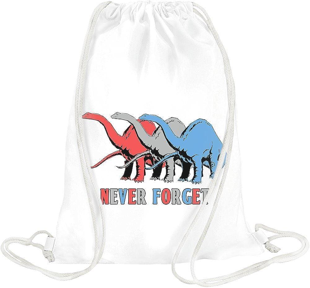 Never Forget Drawstring bag bag1-white-HDAL
