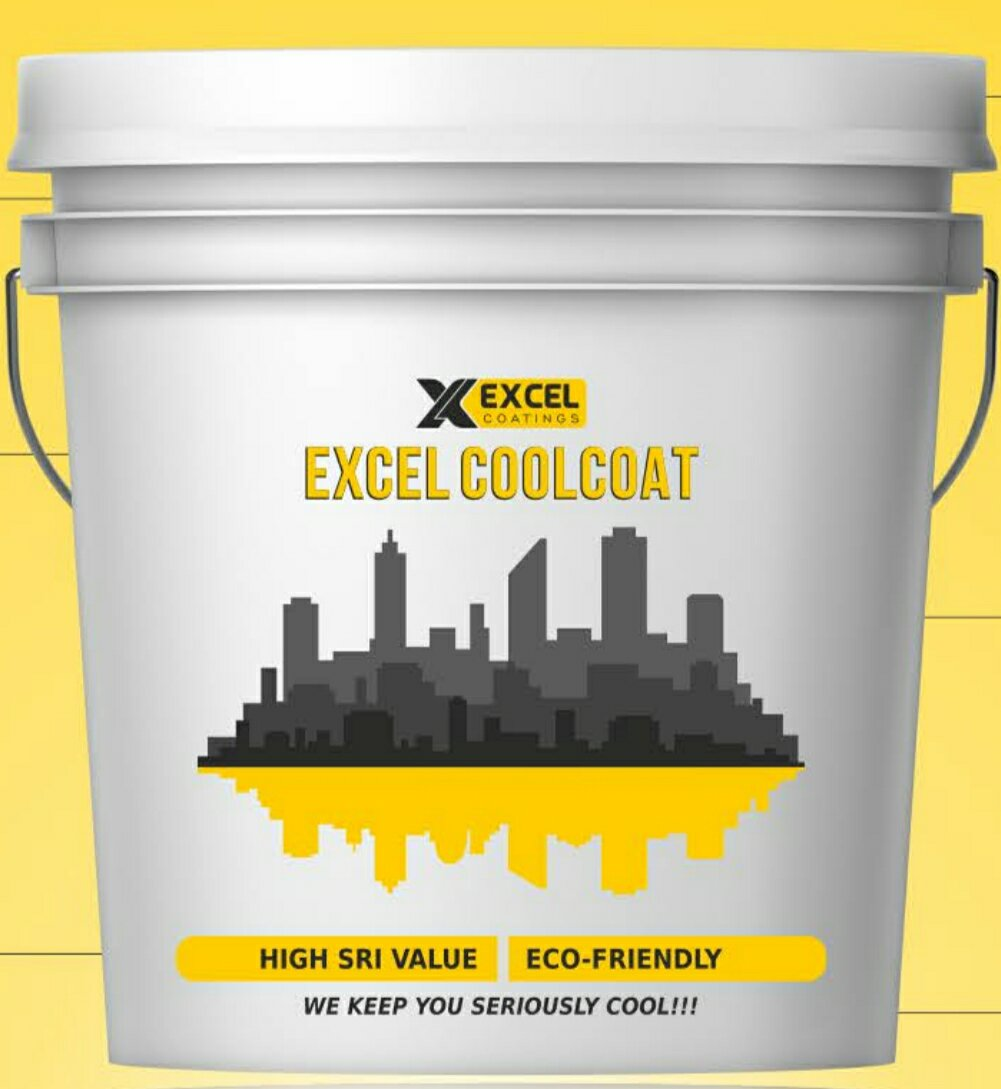 Color coating excel - Excel Coolcoat Solar Heat Reflective Roof Coating Summer Cool Paint 20 Lts Pack Amazon In Industrial Scientific