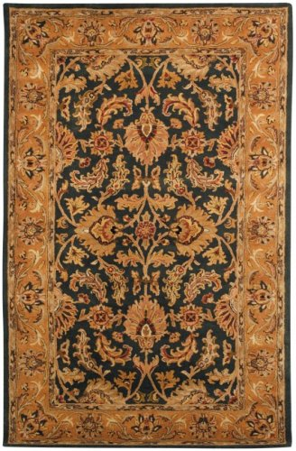 Safavieh Heritage Collection HG628A Handcrafted Traditional Oriental Dark Green and Gold Wool Area Rug (8' x 10') (Beige Persian Wool Rug)