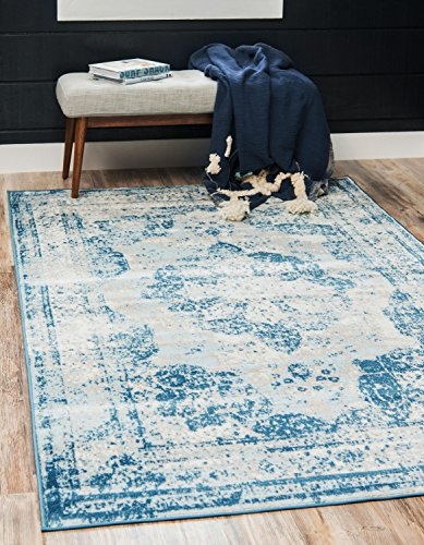Unique Loom Sofia Collection Traditional Vintage Blue Area Rug (3' x (Accents Collection Vintage Rug)