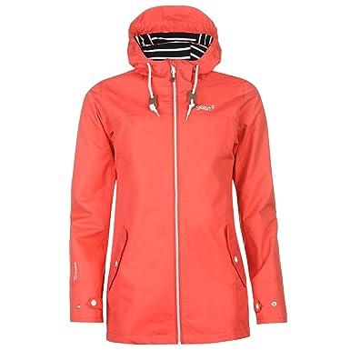 8d1adb53719d Gelert Womens Coast Jacket Top Coat Waterproof High Neck Hooded Full ...