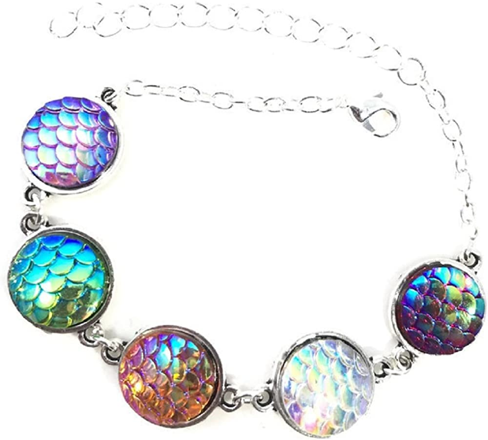 Mermaid Scale Iridescent Bracelet
