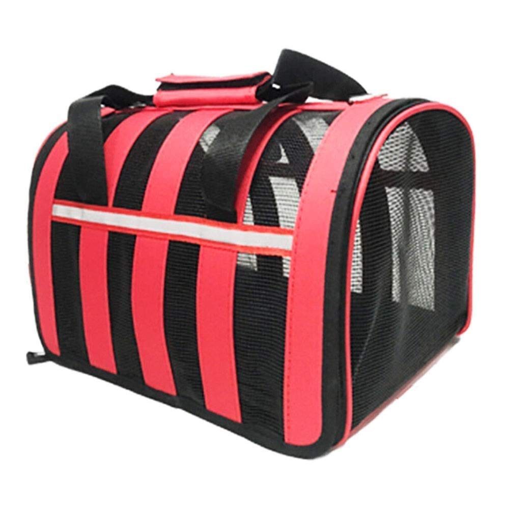 Red 53X30X27CMQQW Airline Approved Travel Transport Pet Carrier Washable  2018 Newly Designed Pet Purse Travel Tote Kennel Cab Foldable Portable Pet Crate Safety Shoulder Suitcase Straps