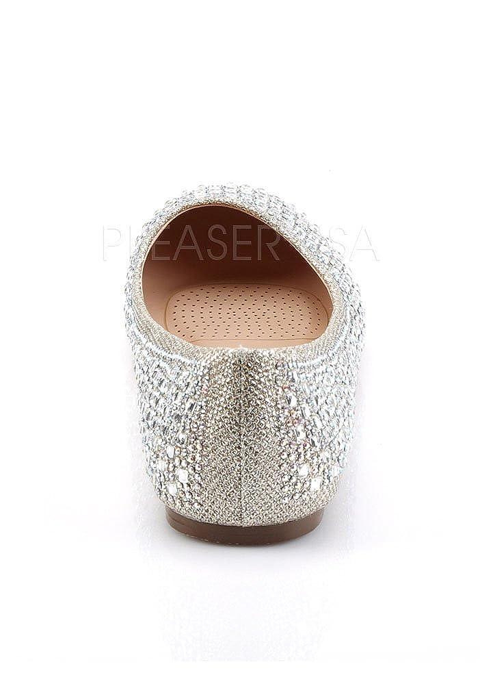Pleaser Damen Treat 06 Mesh Ballerinas Nude Glitter Mesh 06 Fabric 0b353e