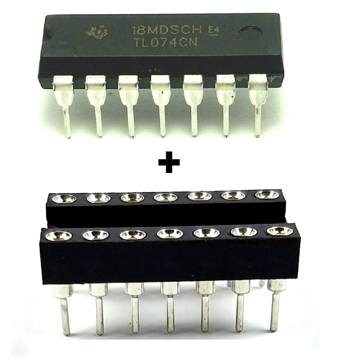 Texas Instruments TL074CN Quad Low-Noise JFET-Input