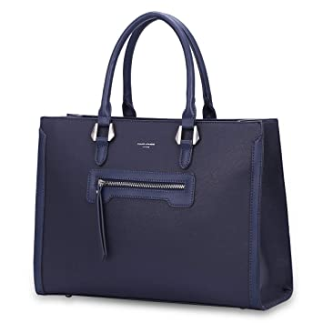 factory price official supplier new high David Jones - Grand Sac à Main Femme - Cabas Fourre-Tout Cuir PU Rigide -  Sac Elégant Ville Travail Poches Multiples - Shopper Porté Epaule ...