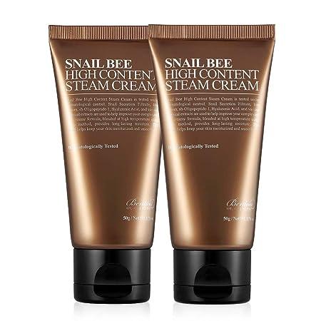 BENTON Snail Bee High content Steam Cream 50g 2 Pack – Skin Moisturizing, Acne Control, Wrinkle Improvement