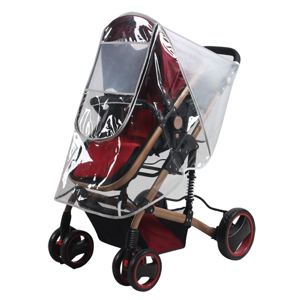 Transparent Stroller Rain Cover Dustproof Cold Wind Protector Weather Waterproof Shield for Baby High Landscape Strollers Pushchairs Gosear MBSDEC12A3760