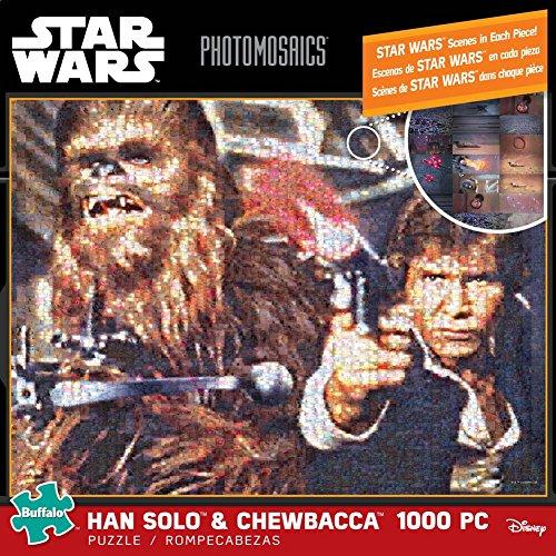 Buffalo Games Star Wars Photomosaic: Han Solo and Chewbacca Jigsaw Bigjigs Puzzle (1000 Piece)