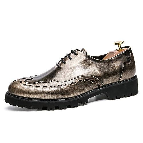 c01016332ad2 Hilotu Men's Fashion Oxfords Casual Comfortable Outsole Personality ...