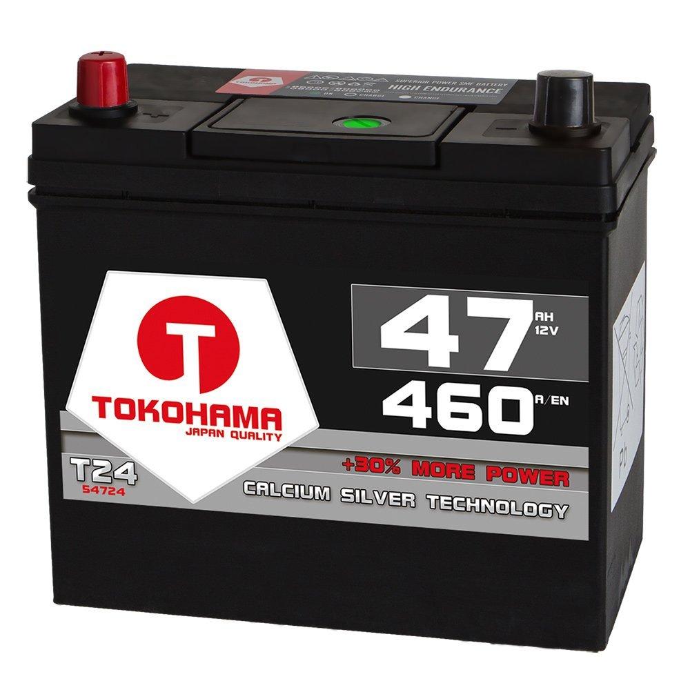 Plus Pol Links 54524 45Ah Tokohama Asia Japan Autobatterie 12V 47AH 460A//EN