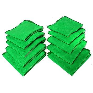 collectsound - 10 Toallas de Microfibra para Limpieza y Absorción Suave para Coche, casa, etc.: Amazon.es: Hogar