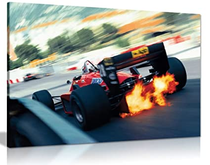 Amazon.com: F1 Ferrari Canvas Print Car Racing Canvas Wall Art ...