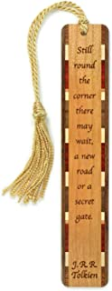 product image for Personalized Secret Gate Quote by J.R.R. Tolkien, Engraved Wooden Bookmark with Tassel - Search B01H2JGIRA for Non-Personalized Version