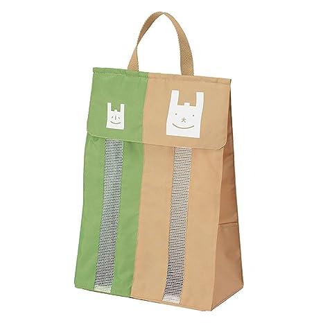 BESTONZON Organizador de Bolsas de Basura de Compras de Plástico Colgante de Nylon para Baño Cocina Puerta para Almacenamiento (Verde)
