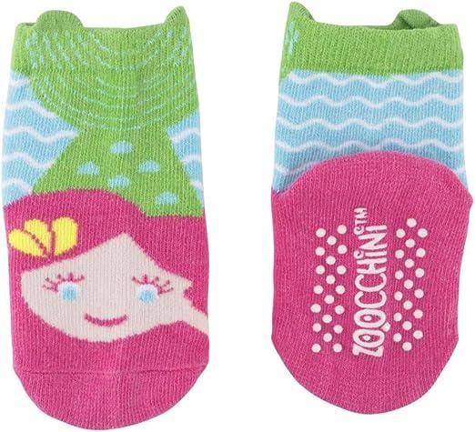 Zoocchini Set Leggings e Calzini Anti-scivolo beb/è 6-12 mesi