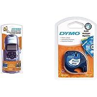 Dymo LetraTag LT-100H Étiqueteuse Portable  + Dymo LetraTag Ruban Plastique 1,2 cm x 4 m - Noir sur Blanc