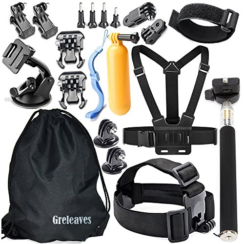 GREHOME Outdoor Sports Accessories Kit for Gopro Hero Session Hero 6 5 4 3+ 3 2 1 SJCAM SJ4000 SJ5000 SJ6000 AKASO...