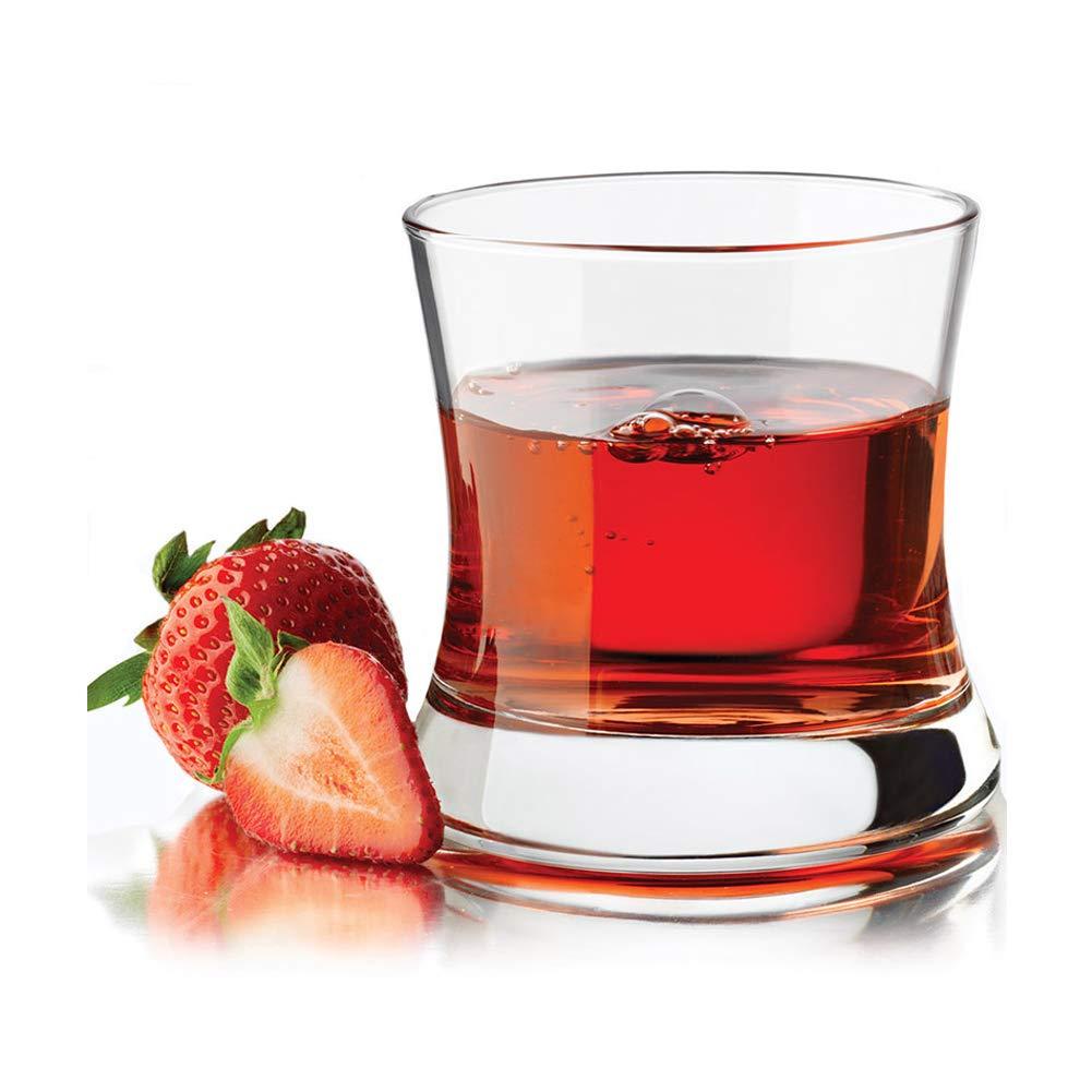 KEYIGOU Set of 6 Lead-free Crystal Bourbon Whiskey Glass White Spirits Mug Scotch Cups Wine Cup Home Bar Drinkware