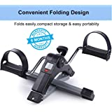 Ozoy Fitness Cycle - Foot Pedal Exerciser - Foldable Portable Foot, Hand, Arm, Leg Exercise Pedaling Machine - Folding Mini Stationary Bike Pedaler, Fitness Rehab Gym Equipment for Seniors, Digital