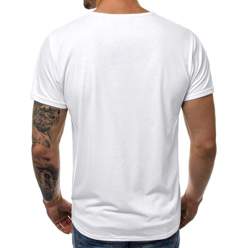 4Clovers Men/'s Stylish Print Short Sleeve Quickly Dry T-Shirt Athletic Cool Running Tee Top