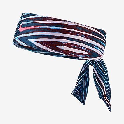 Amazon.com  NIKE Printed Dri-Fit Head Tie 2.0 (Blue Red White ... e66e768b79b