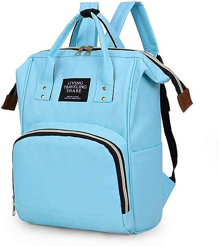 Mommy Baby Diaper Bag Mother Nursing Bag Fashion Maternity Nappy Bag Large Capacity Baby Bag Sky Blue