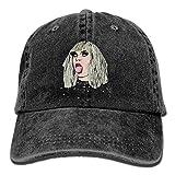 Quxueyuannan Katya Zamolodchikova Men's Black Adjustable Vintage Washed Denim Baseball Cap Dad Hat Trucker Cap
