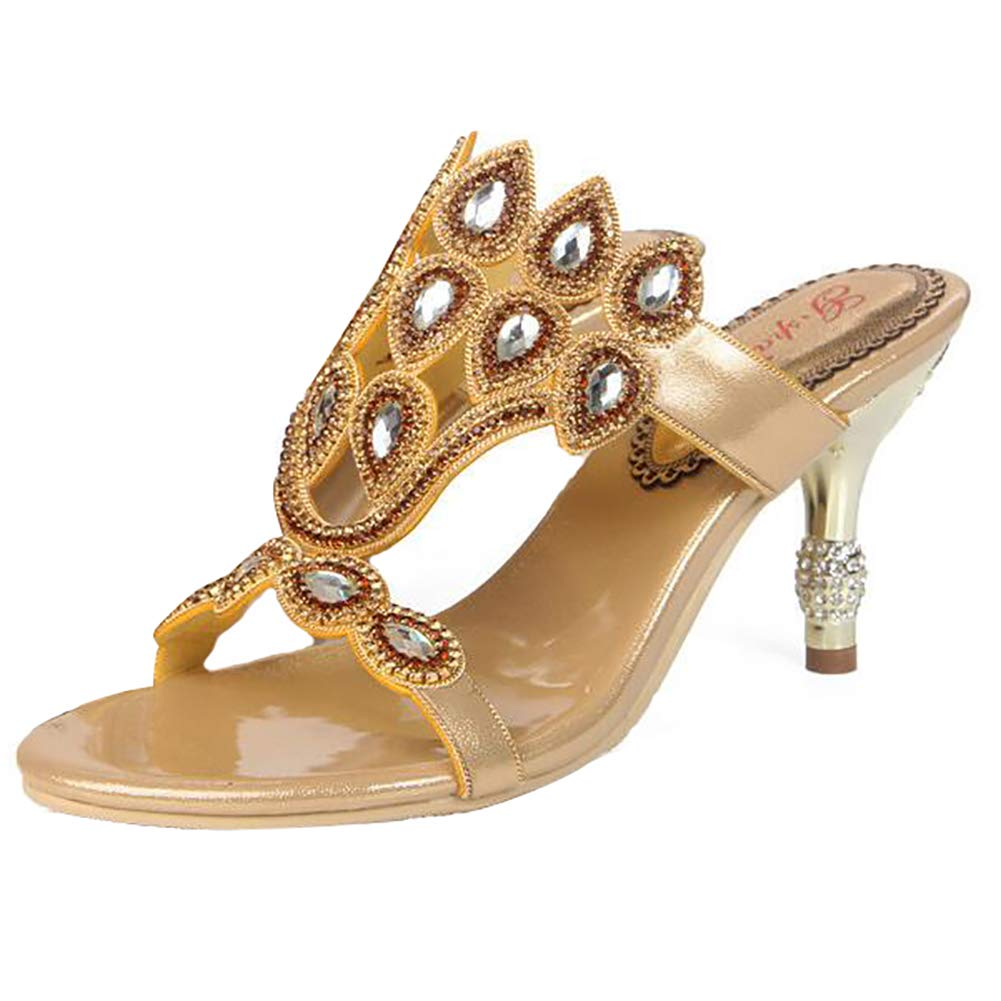 gold Sandals Women's Glitter Summer Open Elegant Comfort Breathable Outdoor Thickness Sole shoes