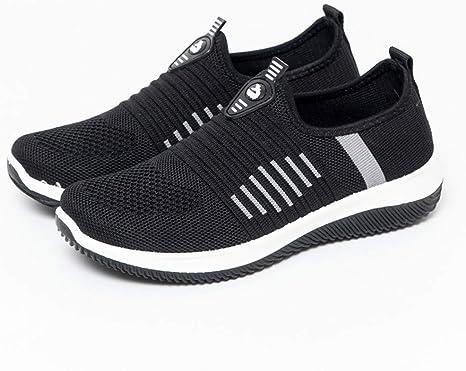 Zapatillas de Deporte Mujer sin Cordones Running Zapatos Gimnasia Entrenamiento Sneakers Transpirables SportNegroEU36: Amazon.es: Bebé