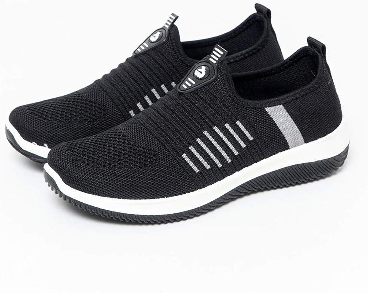 Elecenty Color sólido Zapatos Planos de Mujer Malla Estudiantes ...
