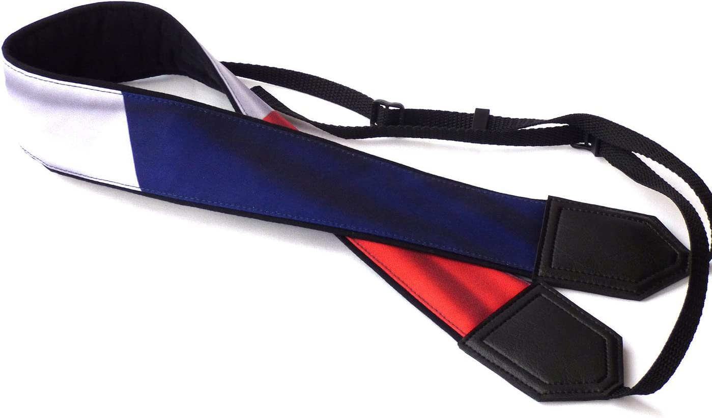 Light Weight and Well Padded Camera Strap Code 00162 Durable Black DSLR//SLR Camera Strap French Flag Camera Strap