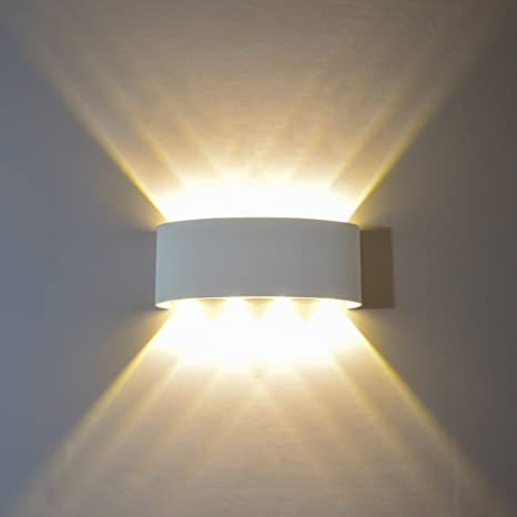 LED Wall Lamp UP Down Crystal Sconce Light Reading Hallway Stair Light Fixture