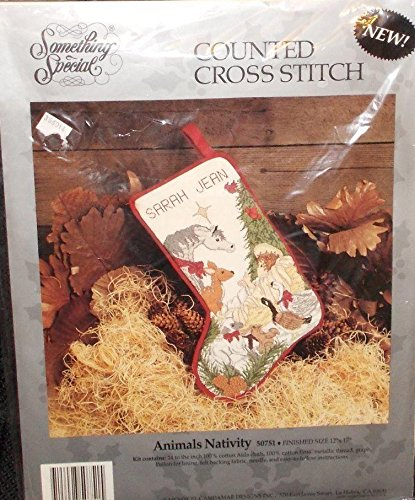 Animals Nativity Something Special Christmas Stocking Counted Cross Stitch Kit 50751