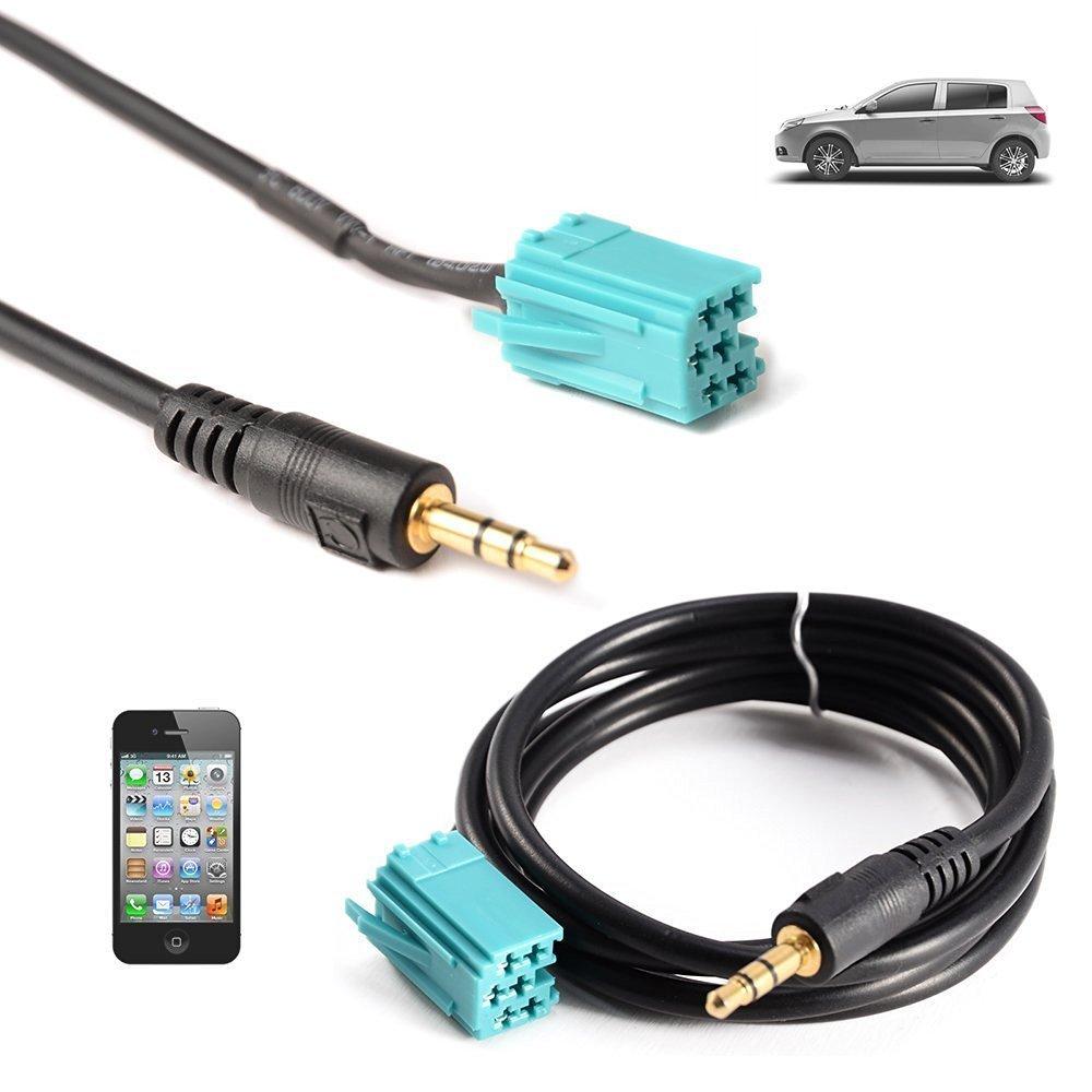 Shine @ Câ ble adaptateur –  3.5 mm Aux Câ ble adaptateur d'entré e pour Renault Clio Megane Laguna Scenic MP3 iPhone Shine Tec. SQA-0102-336