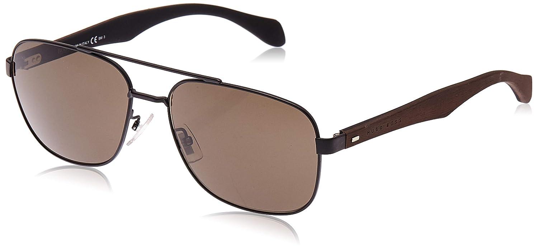 Hugo Boss Boss 0816/F/S NR RBR Gafas de sol, Negro (Mtblk Dkbrwn/Brw Grey), 61 Unisex-Adulto