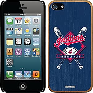 fahion caseiphone 5c Madera Wood Thinshield Case with Cleveland Indians Bats Design