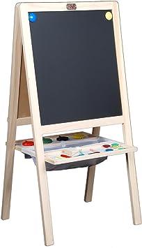 Childrens Tabletop Easel Tikk Tokk Boss Whiteboard Chalkboard Wooden