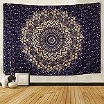 SENGE Tapestry Wall Tapestry Original Gold Ombre Tapestry Ombre Bedding Mandala Tapestry Indian Mandala Wall Art Hippie Wall Hanging Bohemian Bedspread