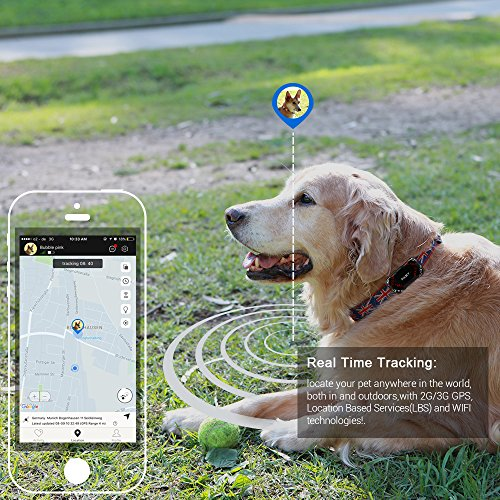 PABY Pet Tracker, 3G GPS Pet Tracker & Activity Monitor Dogs Cats Smart WIFI Virtual Fence Rechargeable Waterproof Tracker Pet Safe Wireless Fence Pet Finder Android/iPhone by PABY (Image #8)