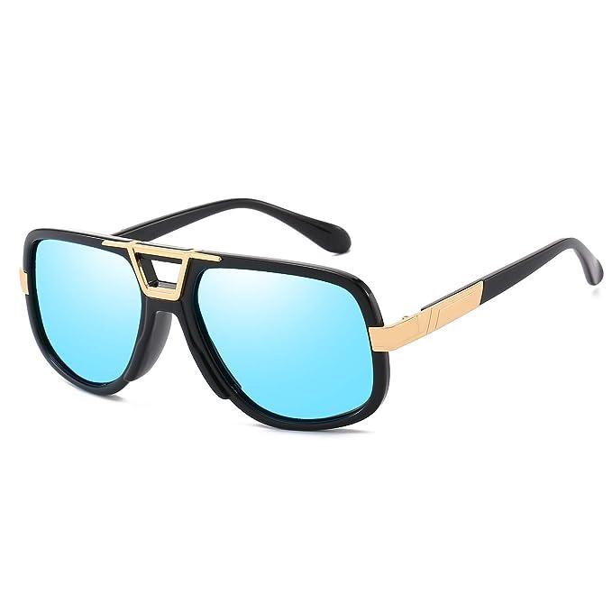 61abc33a6aa9 Classic Polarized Aviator Sunglasses for Men Women- Vintage Design with  Metal Bridge UV 400 Protection