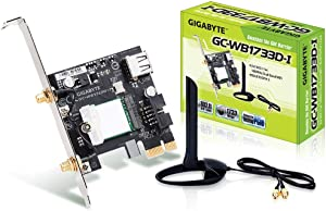 GIGABYTE GC-WB1733D-I (Bluetooth 5/Wireless AC 9260/160MHz Dual Band WiFi/Expansion Card)