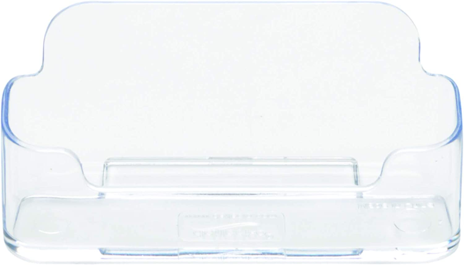 Clear Single Compartment 70101 3-3//4W x 1-7//8H x 1-3//8D 12 Pack Deflecto Business Card Holder