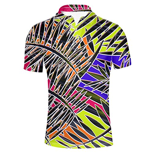 (HUGS IDEA Summer Men's Golf Polos Shirt Fashion Striped T-Shirt Soft Breathable Golf Short Sleeve Tee)
