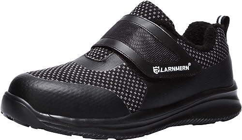 Image of LARNMERN Zapatos de Seguridad para Hombre con Puntera de Acero Zapatillas, Ligeros y Transpirables Zapatos de Entrenamiento prevención de pinchazos