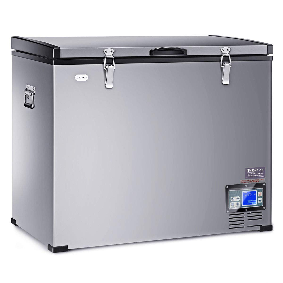 COSTWAY 121 Quart Portable Compressor Refrigerator Freezer Compact Vehicle Car Cooler Mini Fridge For Car and Home, Camping, Truck Party, Travel, Picnic Outdoor