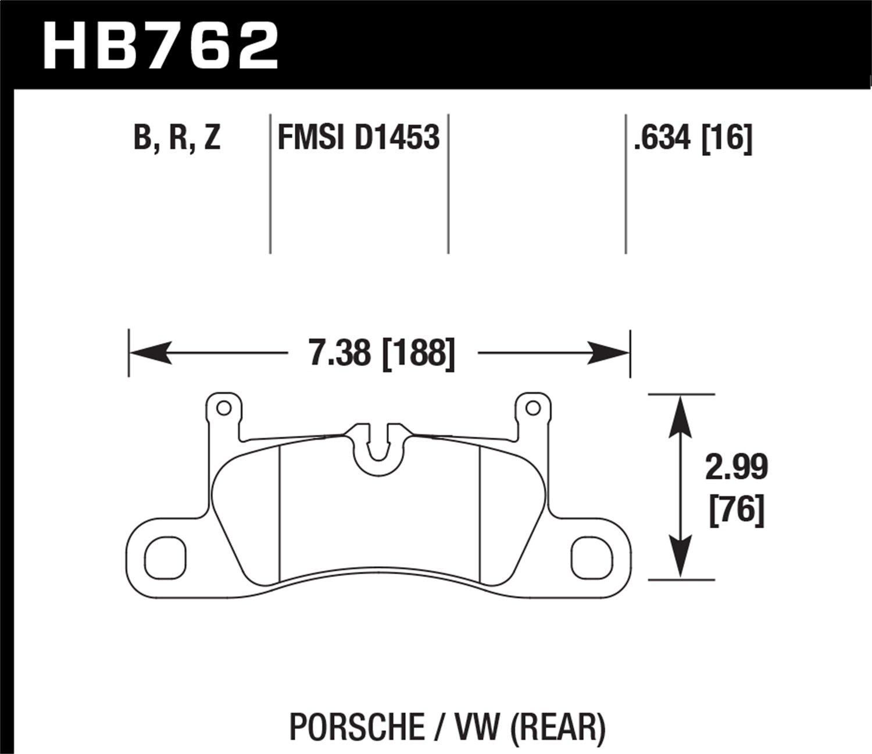 Hawk Performance Brakes HB762N.634 HP Plus Street Brake Pads