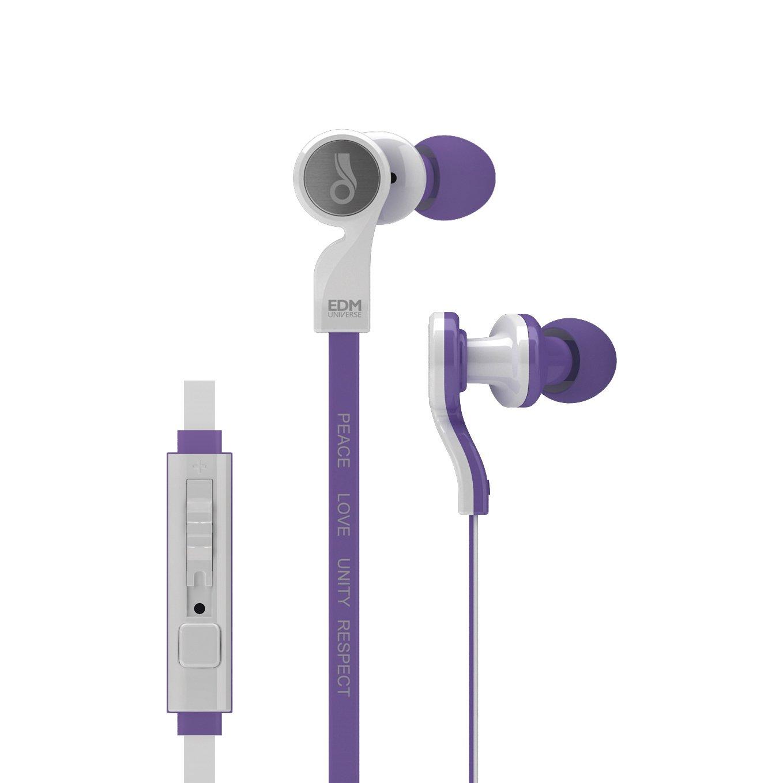 MEE audio EDM Universe D1P Auriculares intrauditivos con funcionalidad de auriculares (Respeto / Púrpura)
